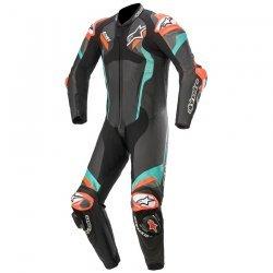 Alpinestars Atem V4 1PC Black Petrol Red Fluo Leather Suit