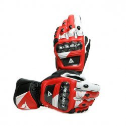 DAINESE DRUID 3 BLACK WHITE LAVA RED LEATHER GLOVES