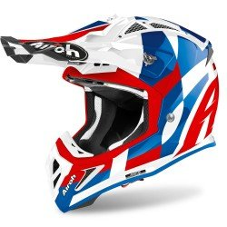Airoh Aviator Ace Trick Blue Gloss Matt Dual Sport Helmet