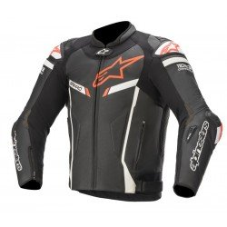 Alpinestars Gp Pro V2 Tech-air Compatible Black White Red Fluo Leather Jacket