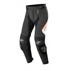 Alpinestars Missile V2 Leather Pants Black White Red Fluo