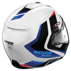 NOLAN N100-5 HILLTOP N-COM BLUE METAL WHITE