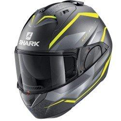 Shark Evo Es Yari Mat Anthracite Yellow Silver Modular Helmet