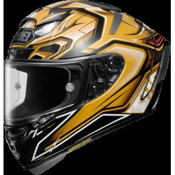 Shoei X-fourteen Aerodyne Gold Black Full Face Helmet