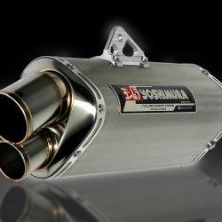 Yoshimura Japan Slip-On Tri-Oval Titanium cover Suzuki GSX-R600/R750 #1A0-569-5H81